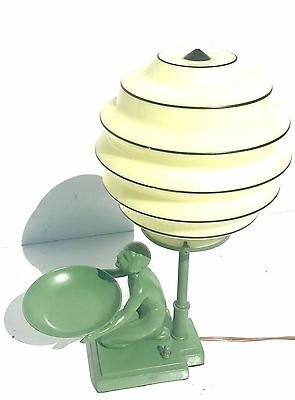 1920s Art Deco Nuart  table beehive lamp vintage retro