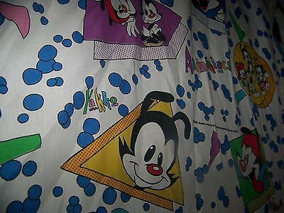 Vintage Animaniacs Flat Bed Sheet 1993 WB Yakko Wakko Dot
