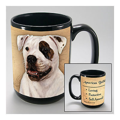 American Bulldog Faithful Friends Dog Breed 15oz Coffee Mug Cup