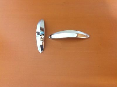 049  VTG MidCentury  Handles In A Stainless Steel/chrome Tone Retro! Set Of 2