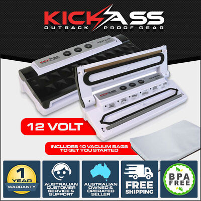 Kickass 12V Vacuum Sealer Machine Food Storage Packaging Cryovac Includes 10 Bag