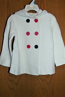 NWT First Impressions Baby Girls Double-breasted Hooded SWEATER Coat Jacket 12 M