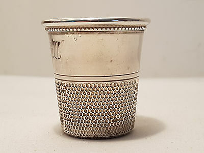 Vintage Antique Sterling Silver Jigger Shot Glass Only A Thimble SHOT GLASS