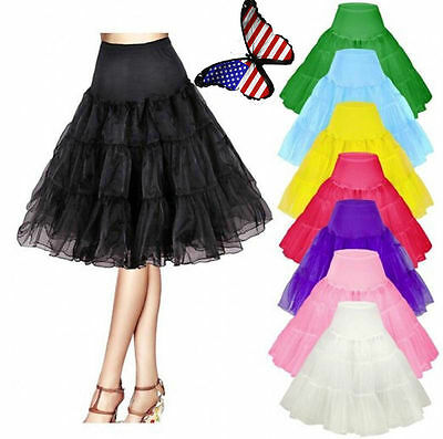 Girl Underskirt Skirt  Lady Short Black Petticoat Slips Bridal Crinoline White