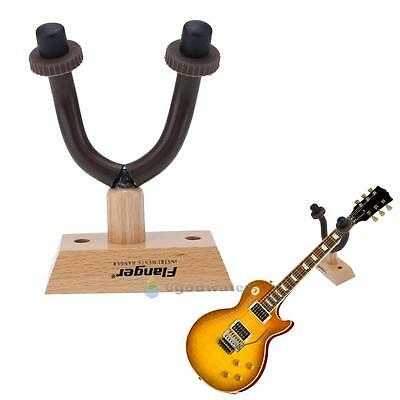 Wooden Base Guitar Hanger Stand Hook Holder Bracket Wall Mount Equipment Fitting