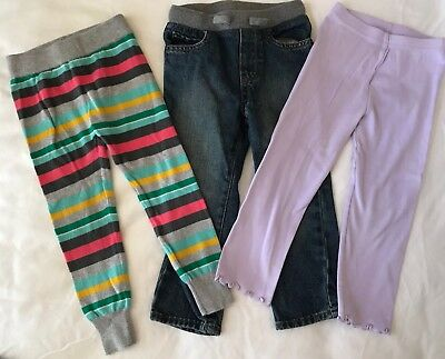 Toddler Girl Mixed Lot of 3 Pants Jeans Leggings, Size 3T