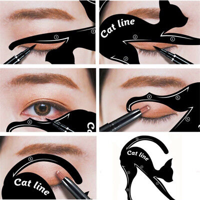 Chat Eye-liner Guides Facile Rapide Maquillage Outil Pochoirs Modèles Intrigui