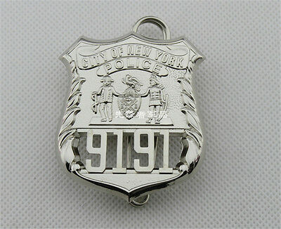 Pin Nypd 9191 Fine Copper Real Size Metal Badge Obsolete Collectibles