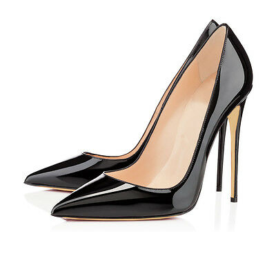 Eithy Womens Patent Slip on Stiletto High Heels Pointed Toe Dress Party Pumps