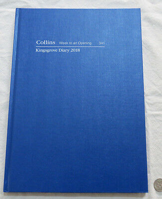 Diary 2018 A4 week to view Collins Kingsgrove  341 Royal Blue Hardcover