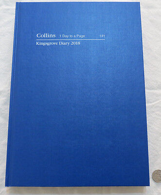 Diary 2018 A4 Day To Page Collins Kingsgrove 141  Royal Blue Hardcover Casebound