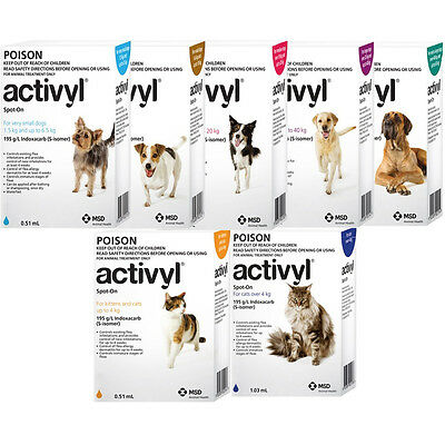 Activyl  Flea Treatment For Dogs and Cats All Sizes
