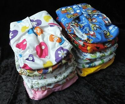 12 Pack/Bundle Modern Cloth Nappies with Microfiber Inserts