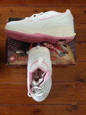 Wheely's Shoes - Girls - US Size 6.5 - Pink and White