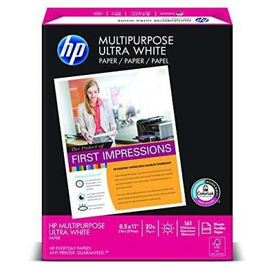 HP Paper, Multipurpose Ultra White, 20lb, 8.5 x 11, Letter, 96 Bright, 500