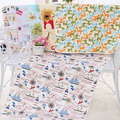 75*120 3 Layers Adult Waterproof Diaper Cloth Baby Changing Pads Covers Reusable