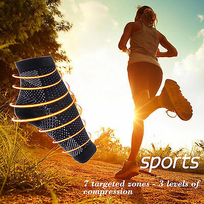 Compression Socks Foot Sleeve Plantar Facilities Sore Achy Swelling Heel Ankle