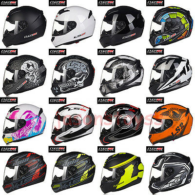 LS2 FF352 Full Face Lightweight Motorcycle Motorbike Helmet Wolf X-Ray Rookie