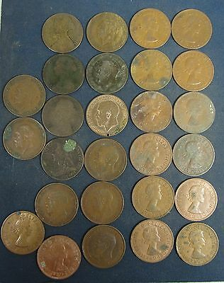 27 British Large Pennies dating from 1873