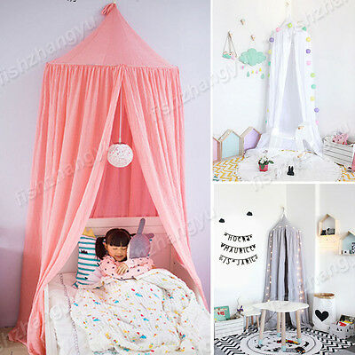Kids/Baby Bedding Cotton Round Dome Bed Canopy Netting Bedcover Mosquito Net OZ