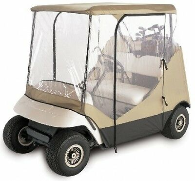 2-Person 4-Sided Golf Cart Wind Rain Enclosure Rugged Weather-Protected Fabric
