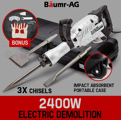 2400W Demolition Jackhammer Pro-Series Commercial Grade Jackhammer Electric