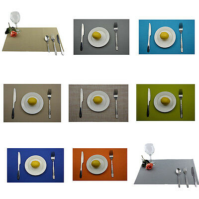 Solid Color Placemat Dining Table Mat Bowl Pad Coasters Waterproof Table Cloth