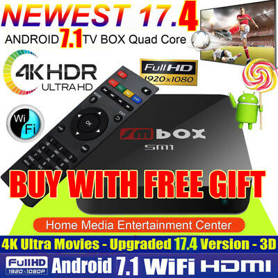 4K PRO KODI 17.3 Quad Core Android 6.0 Smart TV Box WIFI Media Sports Movies
