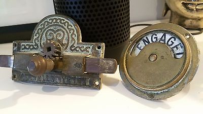 Vintage toilet door lock - Vacant Engaged sign