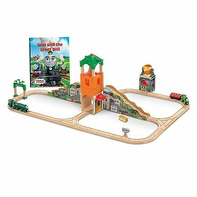 Thomas & Friends Wooden Railway Sam and the Great Bell Train SET NEW