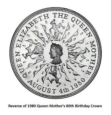 Coins - UK - Queen's Mother Crown 1980 (Uncirculated Condition)