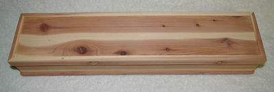 Hand Crafted Cedar Feather Box  (Large) - Native Made