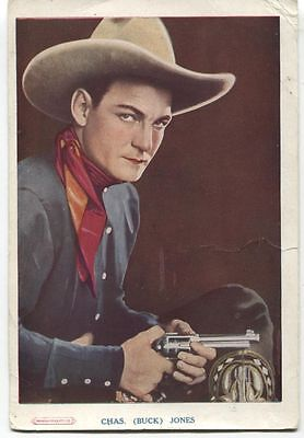 Buck Jones - Australian promotional cinema card (Lyric, Brunswick), circa 1926