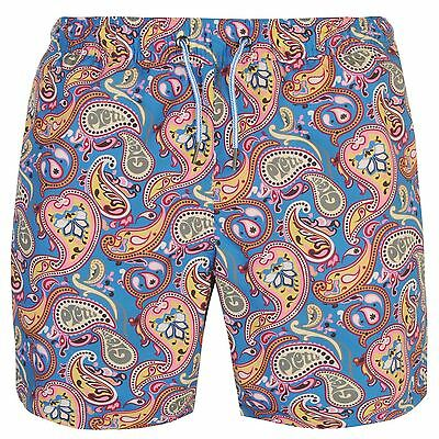 Pretty Green Paisley Swim Shorts Mens