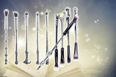 10pc Girl Harry Wizard Potter Makeup Brush Set Magic Wand Powder Brushes Make Up