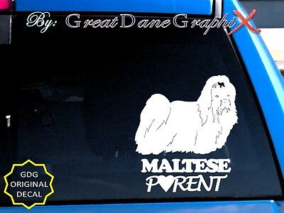 Maltese PARENT(S) Vinyl Decal Sticker / Color Choice - HIGH QUALITY