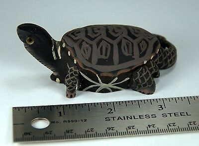 Hand Carved & Painted Soapstone Turtle Tortoise Figurine