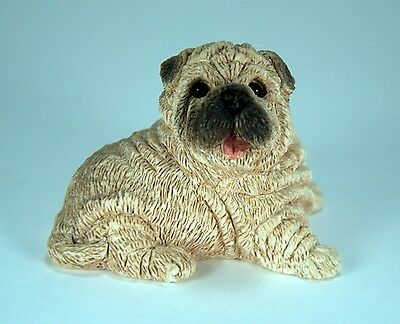 Shar Pei Puppy / Dog Sitting Figurine by United Designs Canada MPN SCL 034