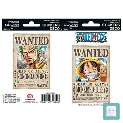 Abystyle One Piece Sticker Set: Wanted - Luffy & Zoro
