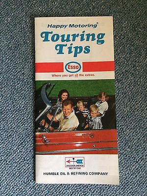 Vintage Ephemera Travel Tourism Esso Touring Tips 1969 History Humble Oil
