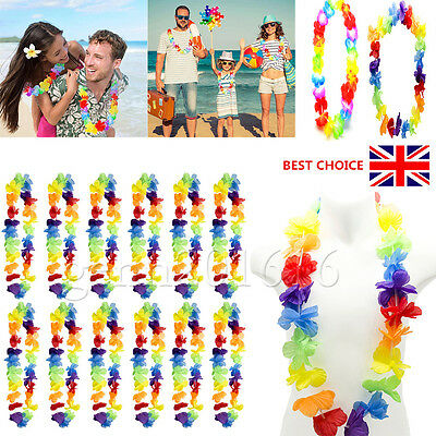1/15x Hawaiian Tropical Leis Flower Garlands Fancy Dress Necklace Party Festival