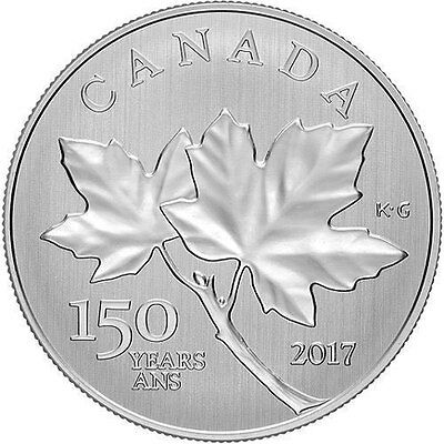 Canada 2017 $10 Fine Silver Maple Leaves 150Th Anniversary (30,000 Mintage)
