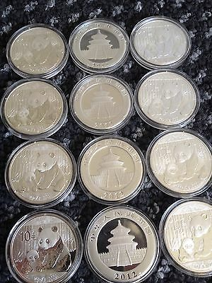 2012 1oz Silver Panda coin (encapsulated) Never Opened.