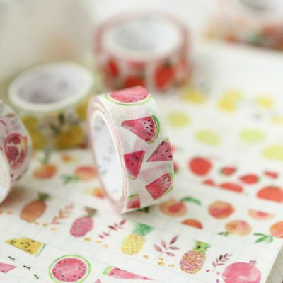 Fruit Series Paper Masking Tapes Washi Tape Diy Scrapbooking Sticker 15mm*7m