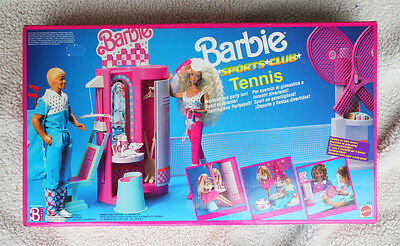 Barbie Sports Club Tennis, Vintage 1989! Playset Brand New Old Stock In Box!