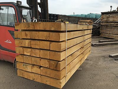"""New French Oak Sleepers 2400x200x100mm / 8ft x 8"""" x 4"""" approx. (Lancashire)"""