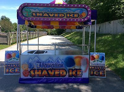 Used 7' Shaved Ice Cart