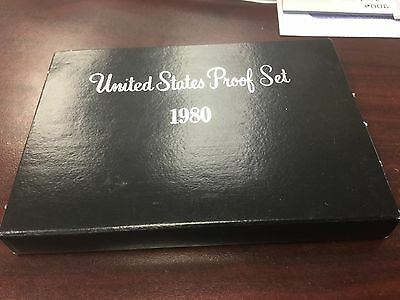 1980 Proof set with box