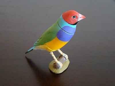 JAPAN Kaiyodo Furuta New Choco Egg Pet Animal Figures Gouldian Finch Bird