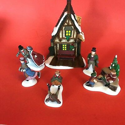 Dept 56 Ashley Pond Skating Party set of 6 #58405 Dickens Village Accessory